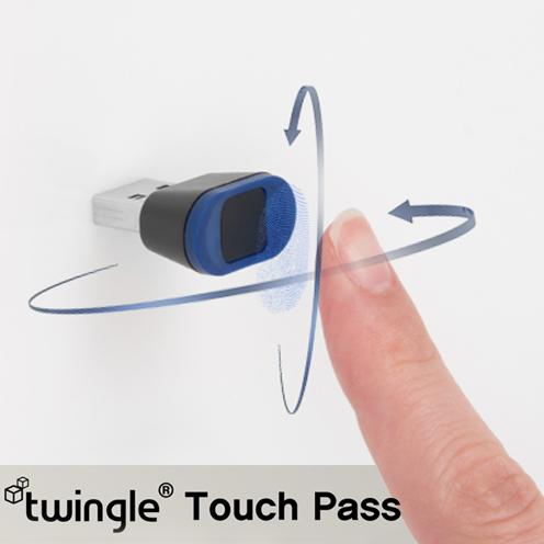 트윙글 터치 패스 USB 지문인식기